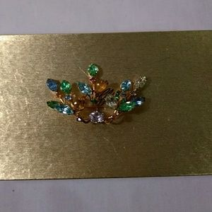 Spring Bling Multi-Colored Brooch